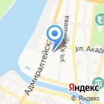 Хладон на карте Астрахани