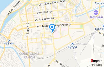 Местоположение на карте пункта техосмотра по адресу г Астрахань, ул Челябинская, д 1 стр а