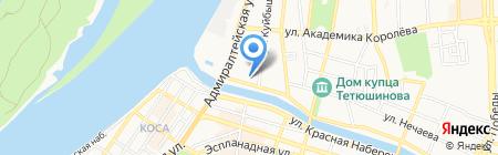 Бузан-порт на карте Астрахани