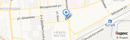 СТАМ на карте Астрахани