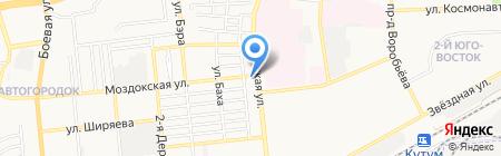 На Кубанской на карте Астрахани