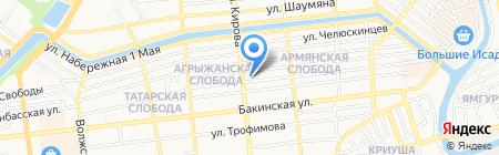 Детская городская поликлиника №1 на карте Астрахани