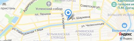 Крас на карте Астрахани