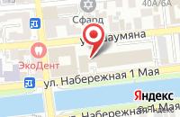 Схема проезда до компании Академия малышей в Астрахани