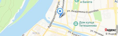 Фон на карте Астрахани