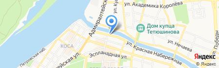 Флибустьер на карте Астрахани