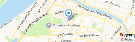 Элеком на карте Астрахани