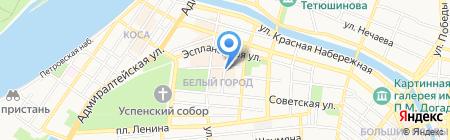 Вереан на карте Астрахани