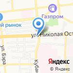 Губернский на карте Астрахани