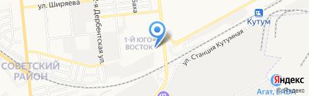 Микс на карте Астрахани