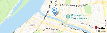 Грибоедов на карте Астрахани
