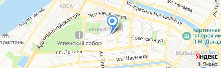 Мелодия на карте Астрахани