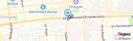 Акцент на карте Астрахани