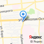1001 запчасть на карте Астрахани