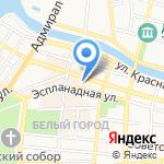 Каспийская корона на карте Астрахани