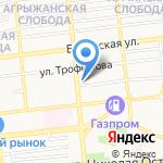 Шаверма на карте Астрахани