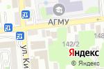 Схема проезда до компании Институт мировой экономики и информатизации в Астрахани