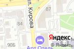 Схема проезда до компании Сорренто в Астрахани