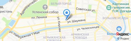 Тайсе на карте Астрахани