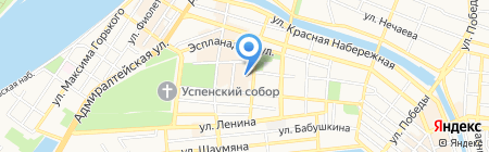 Логос на карте Астрахани