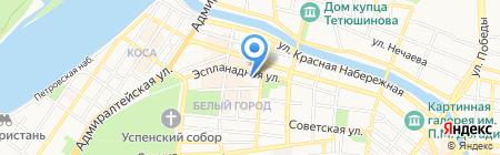Намак на карте Астрахани