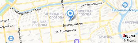 АГМУ на карте Астрахани