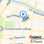 Крендель на карте Астрахани
