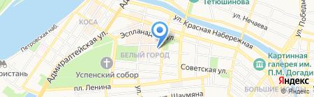 Российский Красный Крест на карте Астрахани