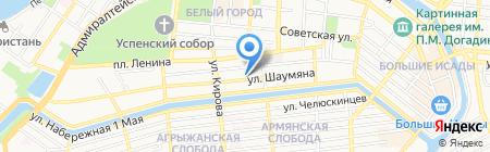 Видеореклама. Астрахань на карте Астрахани
