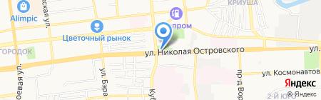 Букетик на карте Астрахани