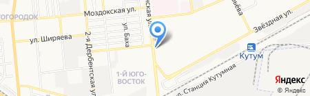 Куб на карте Астрахани