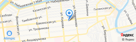 Цербер на карте Астрахани