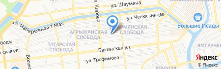 Гастроном на Гилянской на карте Астрахани