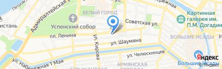 Астраханское на карте Астрахани