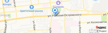Фабрика окон на карте Астрахани