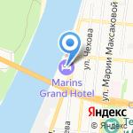Гранд Отель Астрахань на карте Астрахани