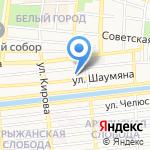 Вершина на карте Астрахани