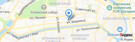 Интро на карте Астрахани