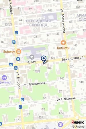 Ирисска на карте Астрахани