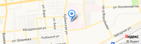 Коммерческая скорая медицинская помощь на карте Астрахани