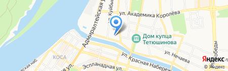 Пегас на карте Астрахани