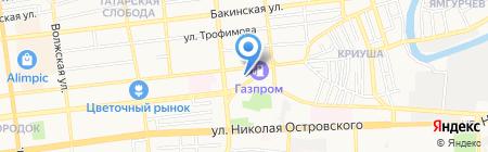 Центр дополнительного образования детей №1 на карте Астрахани