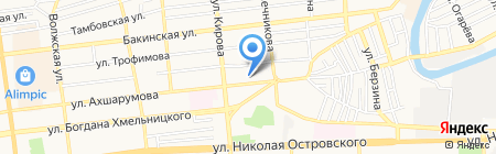 Ампер на карте Астрахани