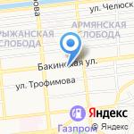 Сударыня на карте Астрахани