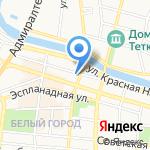 Нике на карте Астрахани