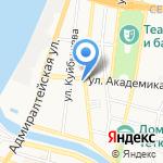 Астраханский гарнизонный военный суд на карте Астрахани
