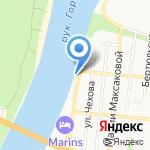 Бульвар на карте Астрахани