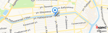 Милана на карте Астрахани