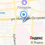 Защита на карте Астрахани