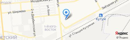 Факел на карте Астрахани